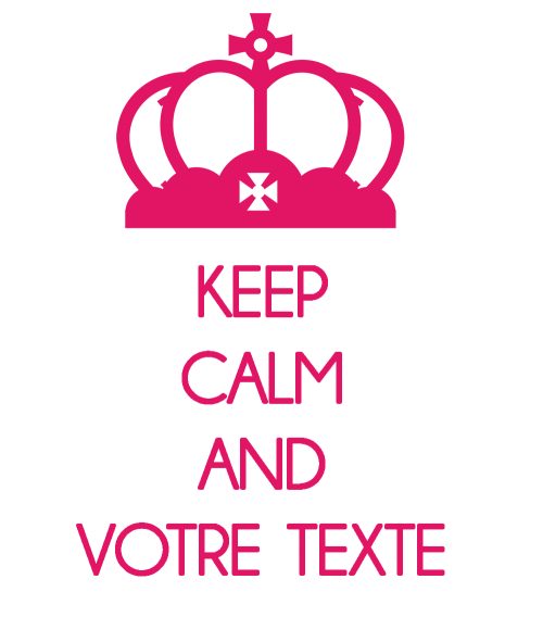 tee shrit personnalisé keep calm